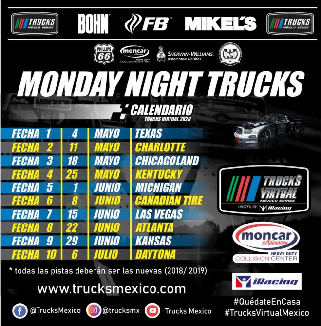 "Nacen los ""Monday Night Trucks"", de Trucks Virtual México Series"